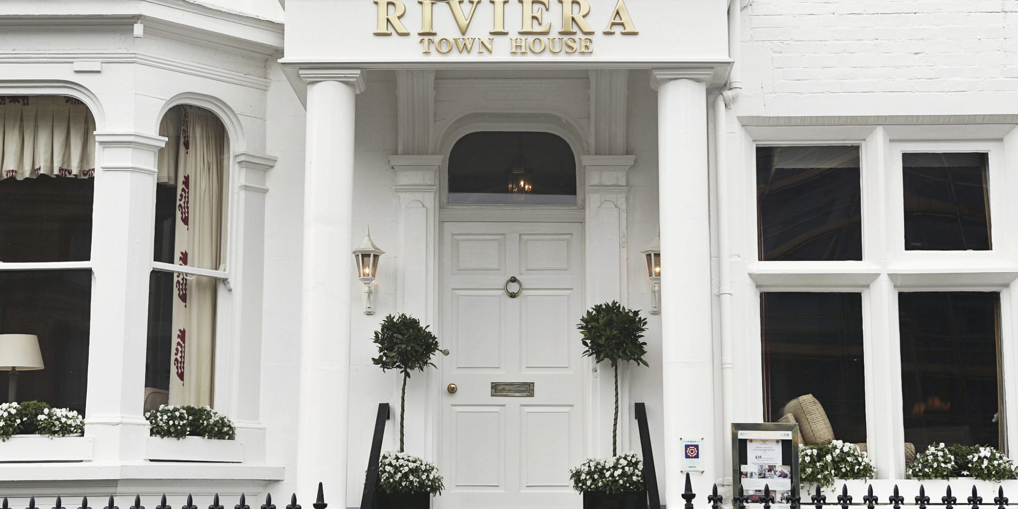 Riviera town house front